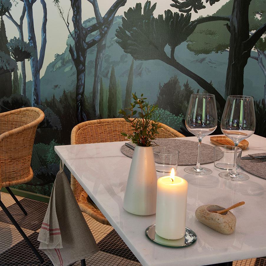restaurant sahuc table luxe